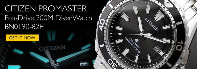 Citizen Promaster Eco-Drive 200M Diver Watch BN0190-82E