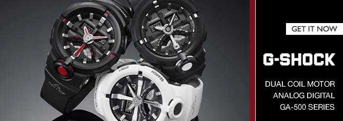 Casio G-Shock Analog Digital Dual Coil Motor 200M Sport Watch