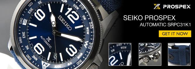 Seiko Prospex Land Automatic Nylon Compass Watch SRPC31K1